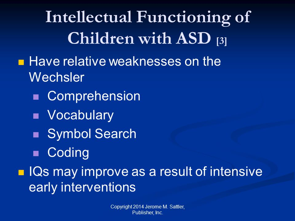 Intellectual Functioning of Children with ASD [3]